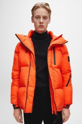 MEN Calvin Klein Jeans Red High Filled Down Padded Jacket