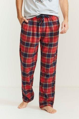 MEN Fat Face Red Haslemere Check Lounge Pants