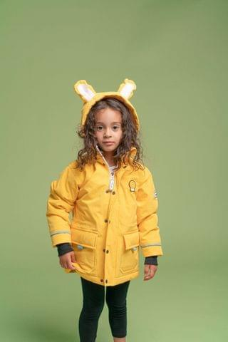KIDS Dinoski Yellow Cub Lion Coat