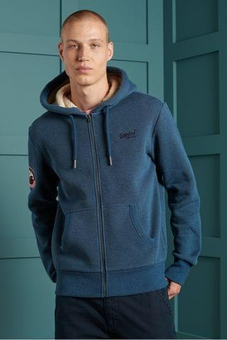 MEN Superdry Orange Label Winter Zip Hoody