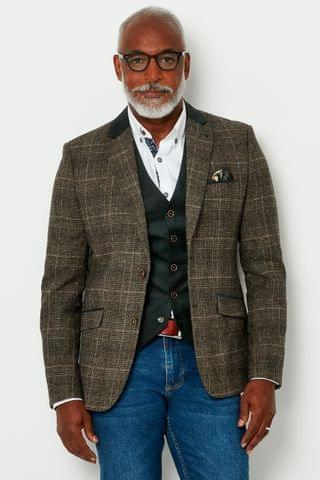 MEN Joe Browns Wonderful Winter Check Blazer