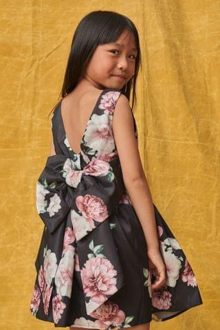KIDS Blue Floral Bow Detail Prom Dress (3mths-16yrs)