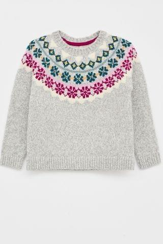 KIDS White Stuff Grey Kids Winter Frost Jumper