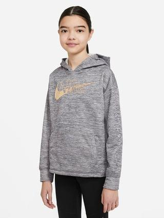 KIDS Big Kids' (Girls') Graphic Pullover Training Hoodie Nike Therma