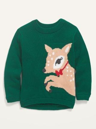 KIDS Deer-Critter Graphic Pullover Sweater for Toddler Girls