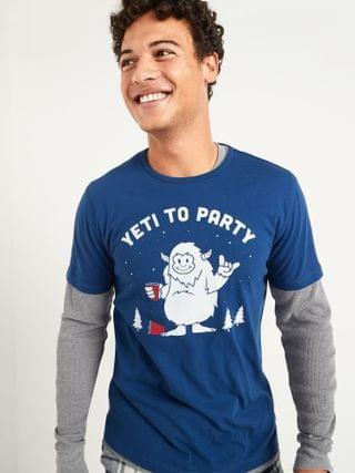 MEN Soft-Washed Christmas Graphic Tee for Men