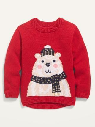 KIDS Bear-Critter Graphic Pullover Sweater for Toddler Girls
