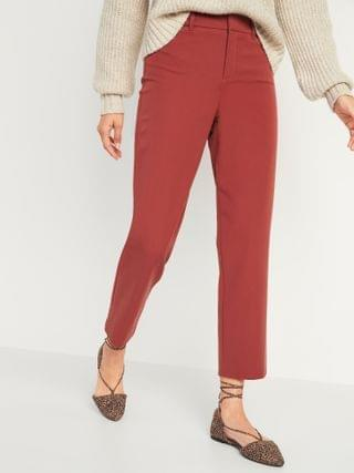 WOMEN All-New High-Waisted Pixie Straight-Leg Ankle Pants for Women