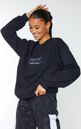 WOMEN Black Self Love Embroidered Sweater