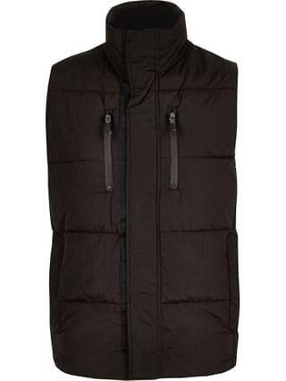 MEN Big and Tall black padded zip gilet