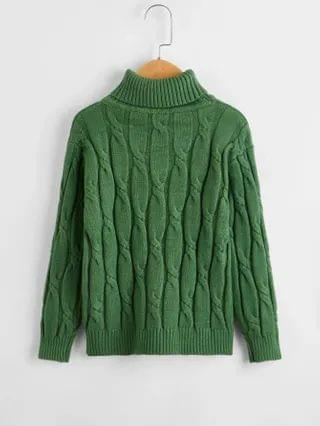KIDS Cable Knit Turtleneck Sweater