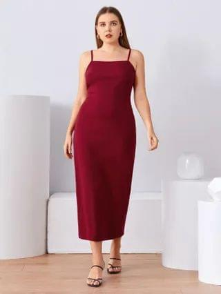 WOMEN Plus Split Hem Cami Dress