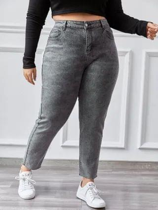 WOMEN Plus High Waisted High Stretch Skinny Jeans