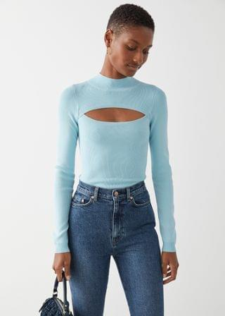 WOMEN Fitted Cut Out Crop Top