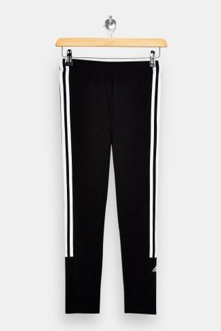 WOMEN Black Logo Leggings By Adidas