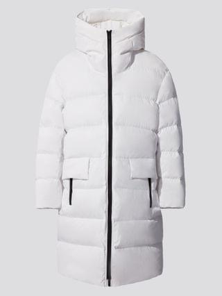 MEN +j light down volume hooded coat