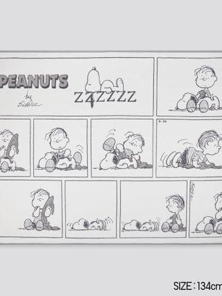 WOMEN peanuts holiday collection reversible fleece blanket (online exclusive)