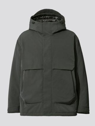 MEN +j hybrid down oversized parka