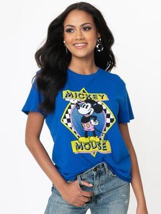 WOMEN Junk Food Vintage Mickey Mouse Logo Tee