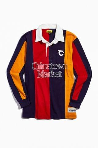 MEN Chinatown Market UO Exclusive Long Sleeve Rugby Tee