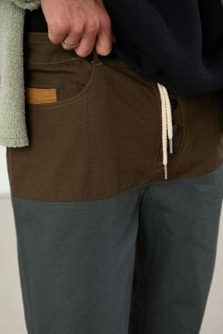 MEN Fried Rice Panelled Ripstop Pant