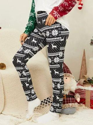 WOMEN YOINS Christmas Graphic Middle Waisted Pants