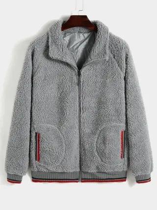 WOMEN Winter Lamb Wool Fleece Warm Jackets Coat