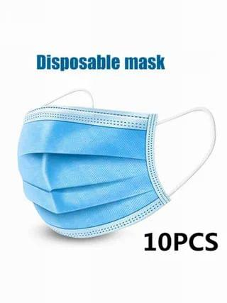 WOMEN 10Pcs Disposable Mouth Face Masks 3-layer Respirator Mask Dust-Proof Personal Protection