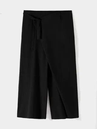 WOMEN Fashion Cotton Linen Knotted Tiered Loose Casual Pants