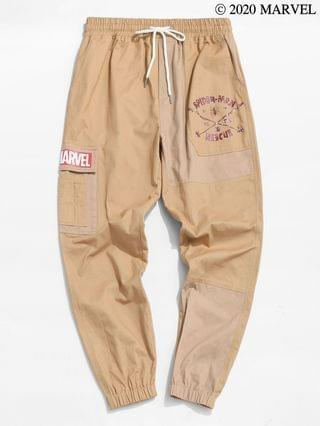 MEN Marvel Spider-Man To The Rescue Graphic Cargo Pants - Camel Brown 2xl