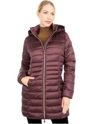 WOMEN Save the Duck - Giga Sherpa Lined Short Hooded Puffer Jacket