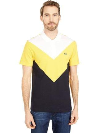 MEN Lacoste - Short Sleeve Color-Blocked Polo Regular