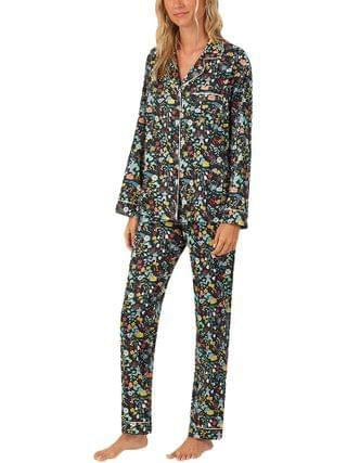 WOMEN BedHead Pajamas - Long Sleeve Classic Notch Collar Pajama Set (Woven Sateen)