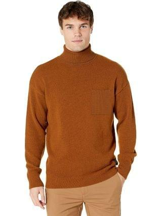 MEN Scotch & Soda - Wool-Blend Turtleneck Pull with Chest Pocket
