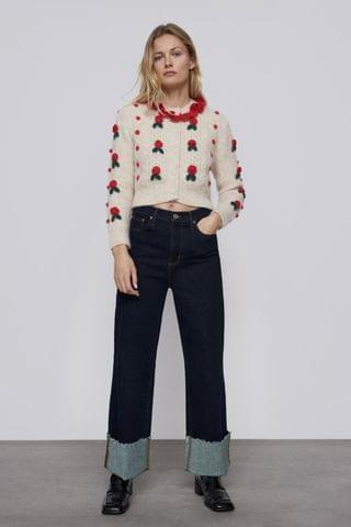 WOMEN FLORAL KNIT CARDIGAN LIMITED EDITION