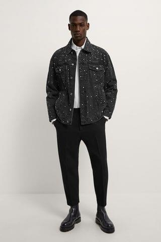 MEN SEQUIN DENIM JACKET