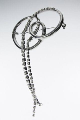 WOMEN SPARKLY INTERWOVEN BROOCH