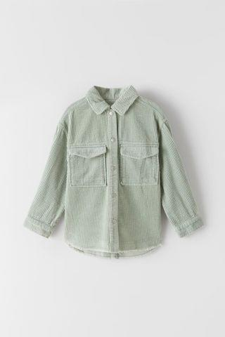 KIDS FRAYED CORDUROY OVERSHIRT