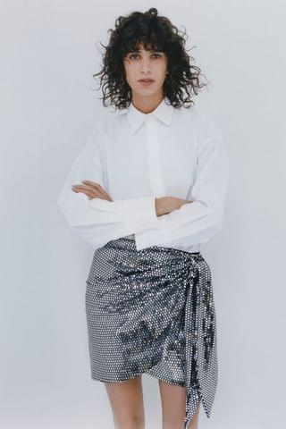 WOMEN SPARKLY KNOTTED SKIRT