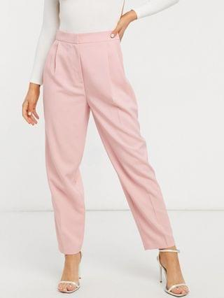 WOMEN menswear-look suit in pink