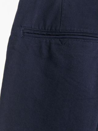 New Look tapered chino pants with pleat detail in navy