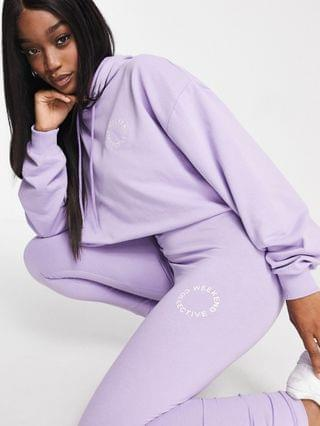 WOMEN Weekend Collective coordinating legging in lilac