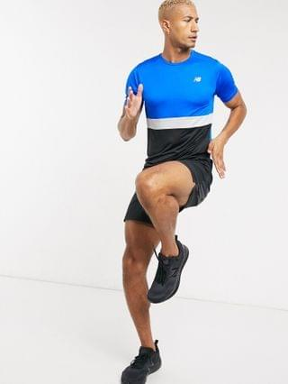 New Balance Running accelerate T-shirt in color block blue