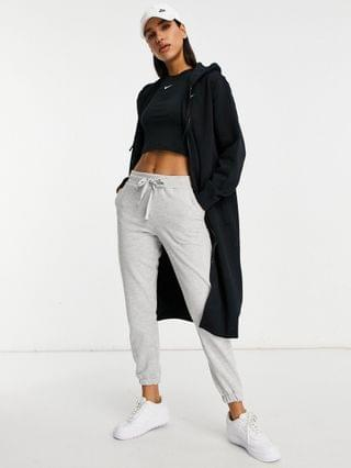 WOMEN Nike Trend Fleece long-line full-zip hoodie in black