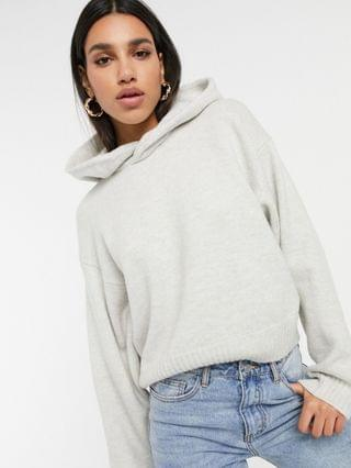 WOMEN Weekday Ambra knitted hoodie in off white