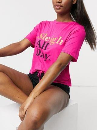 WOMEN Outrageous Fortune sleepwear T-shirt set in pink