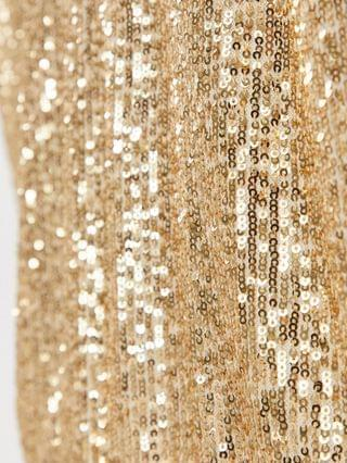 WOMEN Jaded Rose Plus wrap blouse 2-in-1 sequin skirt dress in white and gold