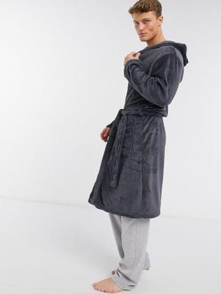 New Look dressing gown in gray
