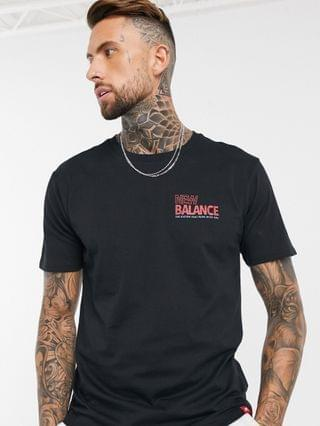 New Balance small speed logo t-shirt in black