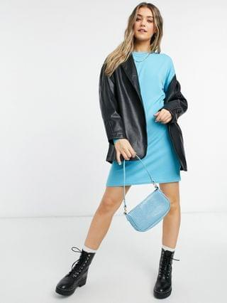 WOMEN New Look sweatshirt dress in bright blue